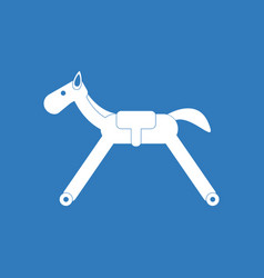 Icon on background rocking horse vector