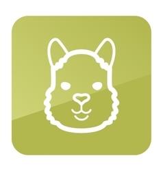 Lama icon animal head symbol vector