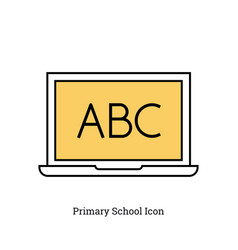 Linear isolated icon - primary school icon vector