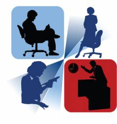 office time vector image vector image