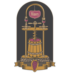 on the theme of the winery vector image