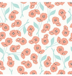 Pattern with flowers and floral elements vector