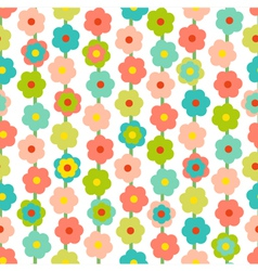 Retro Seamless Pattern With Small Flowers vector image