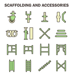 Scaffolding icon vector