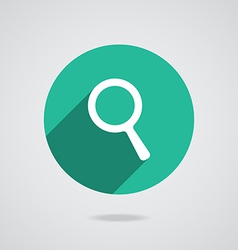 Search Icon Magnifying Glass with long shadow vector image vector image