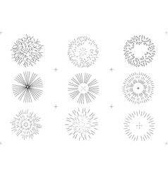 Set of drawing trees on white background vector