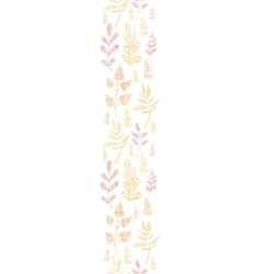 Textile textured fall leaves vertical seamless vector