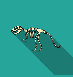Tyrannosaurus rex icon in flat style isolated on vector