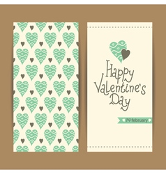 Valentine cards set vector