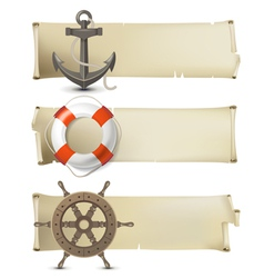 Sea banners vector