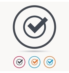 Tick icon check or confirm sign vector