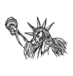 statue of liberty - sketch hand vector image