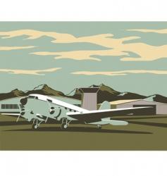 airport scene vector image