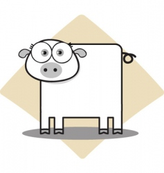 square animal  pig vector image