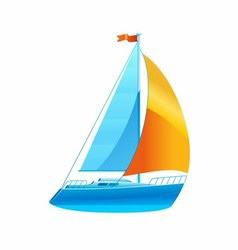 Sailboat sailing icon vector