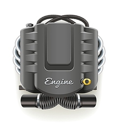 Engine with cover vector