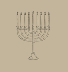 Menorah icon vector