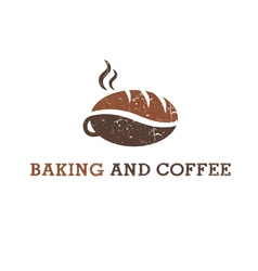 Abstract of coffee and cookie vector