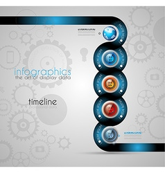 Infographic template for modern data visualization vector