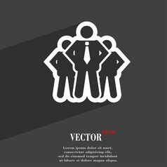 Business team icon symbol flat modern web design vector