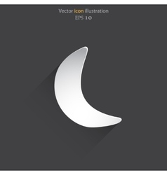 Half moon web flat icon vector
