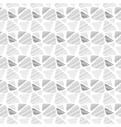 Seamless pattern of triangles in sketch style vector