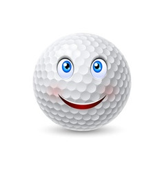 Golf ball cartoon character vector image