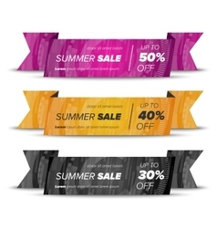 Summer sale horizontal banners vector