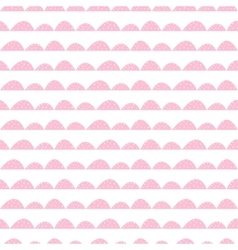 Scandinavian seamless pink pattern in hand drawn vector