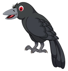 Cute cartoon crow vector