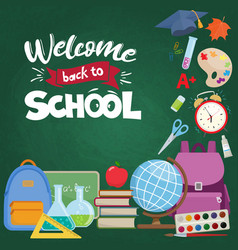 Back to school decoration vector