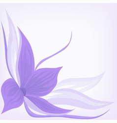 backdrop with lilac flower vector image vector image