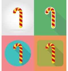 christmas and new year flat icons 07 vector image vector image