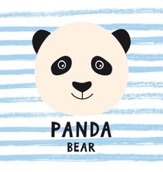 Cute panda bear head with kids style text vector