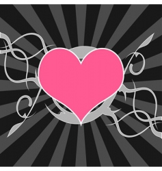 decorative heart background vector image vector image