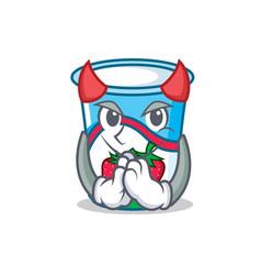 Devil yogurt mascot cartoon style vector