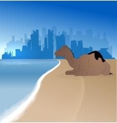Doha silhouette skyline vector