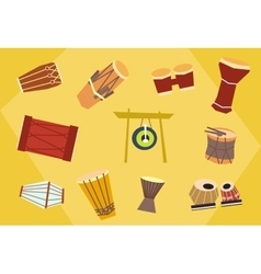 Ethnic drums vector