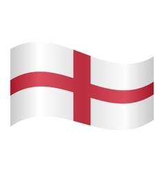 Flag of england waving vector