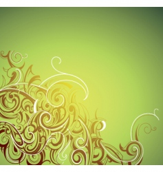 floral and decorative border vector image vector image