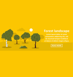 forest landscape banner horizontal concept vector image