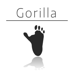 Gorilla animal track vector