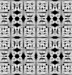Gray and white pattern seamless on black backgroun vector