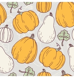 Hand drawn halloween seamless pattern with vector image