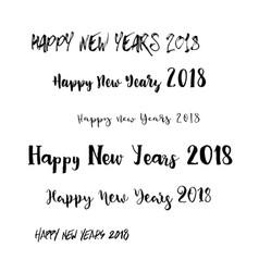 happy new years 2018 theme vector image vector image