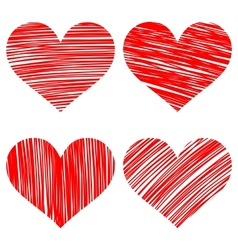 hearts set cartoon vector image