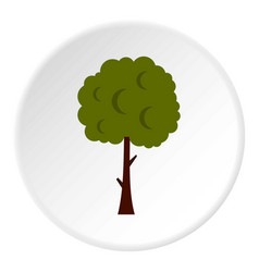 Long tree icon circle vector