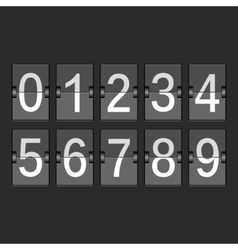 Mechanical timetable scoreboard information vector image