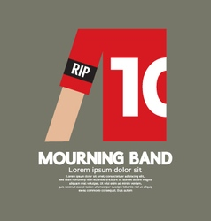 Mourning band on soccer sleeve vector