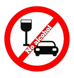 No alcohol icon vector image